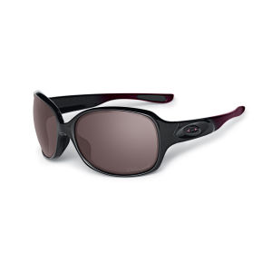 Oakley Women's Drizzle Polished Metal Polarized Sunglasses - Black/Rose
