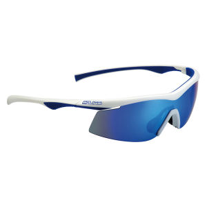 Salice 843 RWB Sports Sunglasses - Mirror - White/Blue