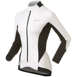 Odlo Cover Long Sleeve Full Zip Jacket - White/Black