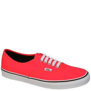 Vans Authentic Neon Trainers - Red/Orange