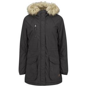 ONLY Women's London Fur Trim Coat - Black