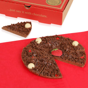 The Gourmet Chocolate Pizza Strawberry Sensation 7 inch Pizza
