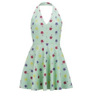 LOVE Women's Palm Print Dress - Mint