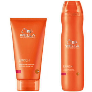 Wella Professionals Enrich Volumising Duo for Fine to Normal Hair- Shampoo & Conditioner (가는 모발, 일반 모발 용)
