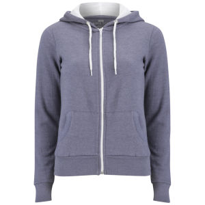 Brave Soul Women's Adrian Zip Through Contrast Hoody - Denim Marl