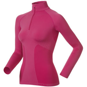 Odlo Evolution Warm Long Sleeve 1/2 Zip Base Layer - Magenta