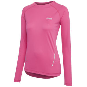 Asics Women's Long Sleeve Running Top - Magenta