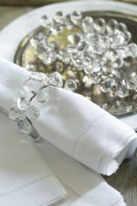Glass Bead Napkin Rings - Set Of 4