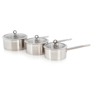 Morphy Richards 46395 3 Piece Saucepan Set - Stainless Steel - 16/18/20cm