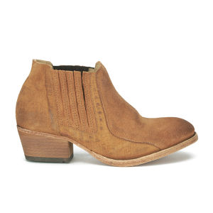 H Shoes by Hudson Women's Emmett Suede Heeled Ankle Boots - Tan