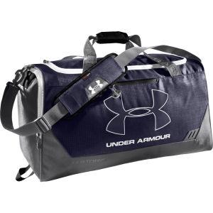 Under Armour Men's Hustle Medium Duffle Bag - Midnight Navy/White