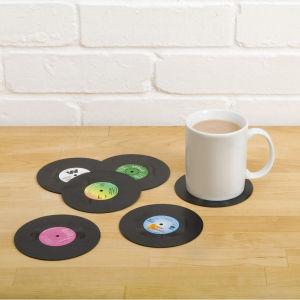 Retro Schallplatten Untersetzer