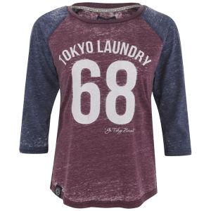 Tokyo Laundry Women's Bella Three Quarter Sleeve Top - Bordeaux