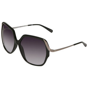 Diane von Furstenberg Alexandra Oversized Sunglasses - Black
