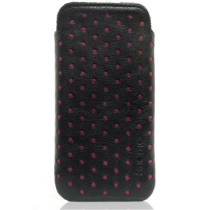 Knomo Fuchsia Perforated Leather iPhone 4 Slim Case