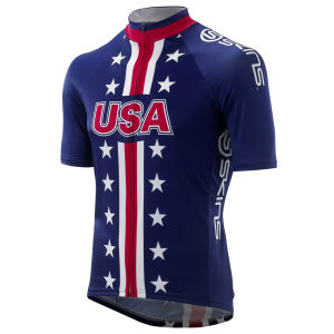 Cycle Men's Team USA Jersey - Navy/Red/White