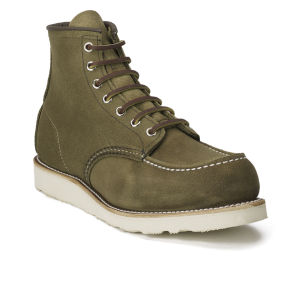 Red Wing Men's 6 Inch Moc Toe Leather Lace Up Boots - Olive Mohave: Image 5