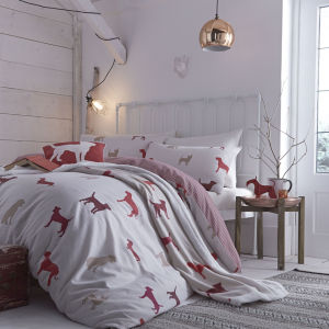 Catherine Lansfield Hounds Duvet Cover - Multi