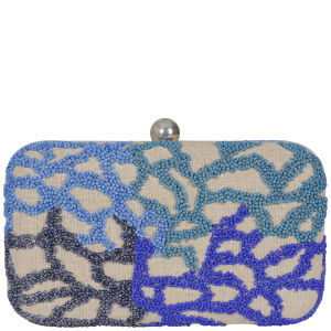 French Connection Webby Web Clutch - Natural Mix
