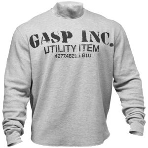 GASP Thermal Gym Sweater - Grey Melange