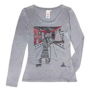 Ben Mosely Women's Long Sleeved T-Shirt - Grey