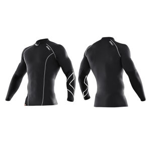2XU Men's Thermal Long Sleeve Compression Top - Black