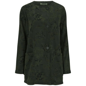 ONLY Women's Ellen Floral Spring Coat - Khaki