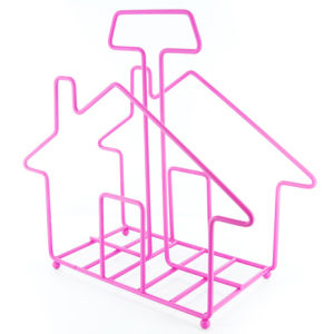 Magazine Rack Home Sweet Home - Pink