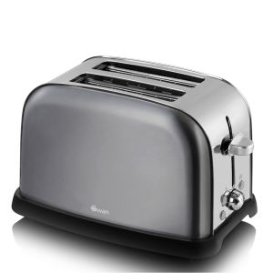 Swan Metallic 2 Slice Toaster - Graphite