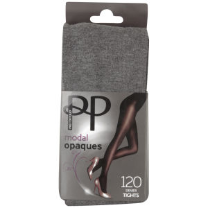 Pretty Polly Women's Modal Opaque Tights - Grey Marl