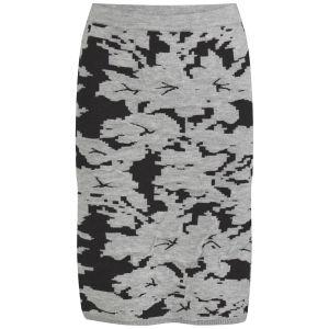 VILA Women's VILAk Knitted Pencil Skirt - Grey