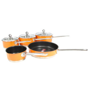 Morphy Richards Accents 5 Piece Pan Set - Orange
