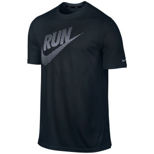 Nike Men's Running Legend Reflective T-Shirt - Black