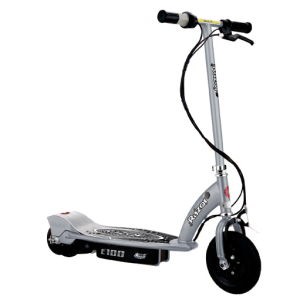 Razor E100 Electric Scooter - Silver