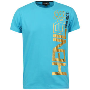 Henleys Men's Exploit T-Shirt - Turquoise/Yellow
