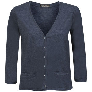 Brave Soul Women's Buttoned Cardigan - Navy
