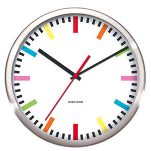 Karlsson Rainbow Wall Clock - Steel/White