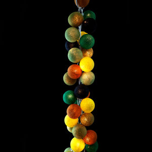 Cable & Cotton String Light 35 Balls - Wasabi