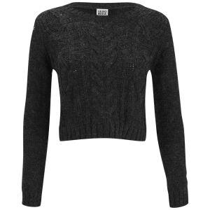 Vero Moda Banita Cable Knitted Jumper - Grey