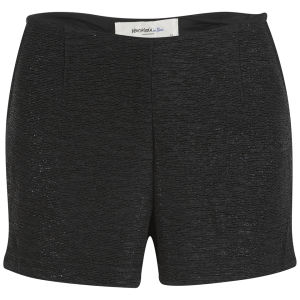 Vero Moda Women's Sparka Sequin High Waisted Shorts - Black