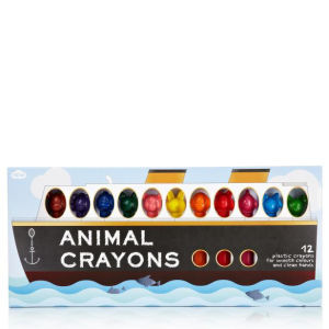 Animal Shaped Crayons - 12 Pack