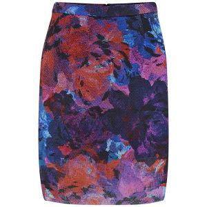 Finders Keepers Women's Starting Over Print Midi Skirt - Rose Print Dark