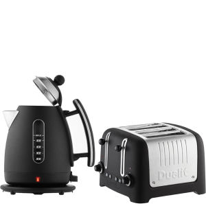 Dualit Jug Kettle and 4 Slot Toaster Bundle - Basalt