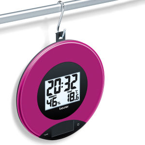 Kitchen Scales and Wall Clock - Berry