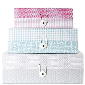 Storage Box Grid Ton Sur Ton - Set of 3