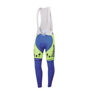 Tinkoff-Saxo Thermal Bib Tights - Blue