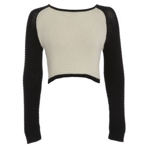 Damned Delux Women's Millie Knitted Jumper - Ivory/Black