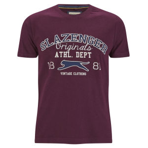 Slazenger Men's Waddle T-Shirt - Damson
