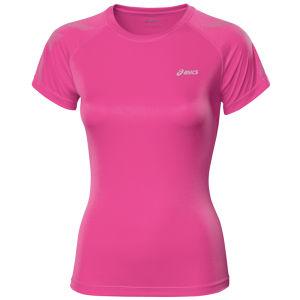 Asics Women's Tiger Short Sleeve Running Top - Pink