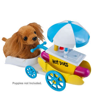 Zhu Zhu Pets Puppies Push Along - Hot Dog Cart